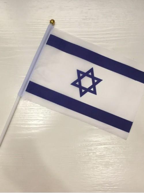 Флажок Государства Израиль на флагштоке