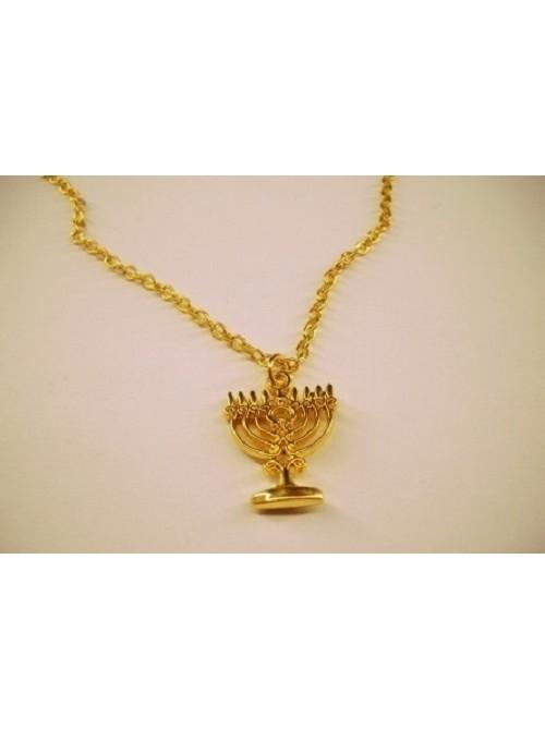 Кулон на цепочке Ханукия в золотом цвете