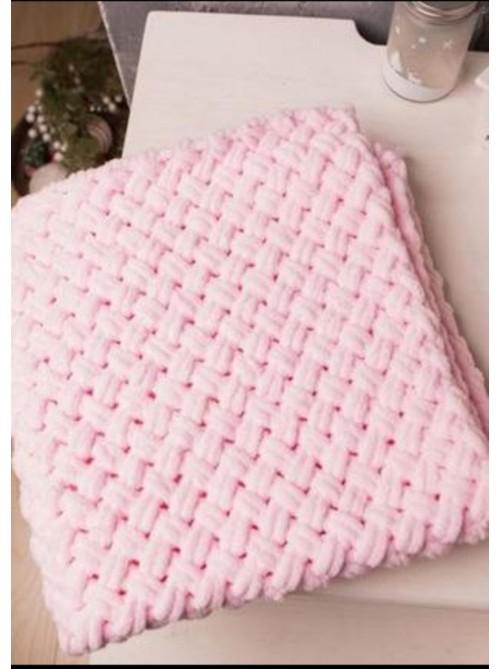 Плед вязаный Pink разных размеров
