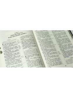 Библия семейная, коричневая мягкая в футляре