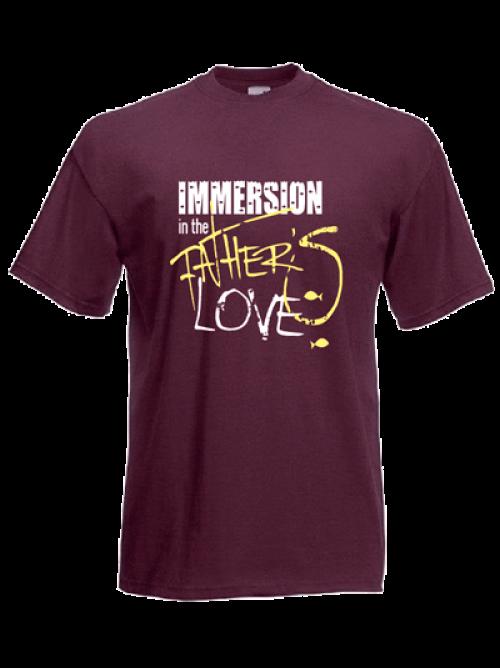 "Футболка с логотипом ""Immersion in the Father's LOVE"" - ""Погружение в любовь Отца"" | 100% хлопок"