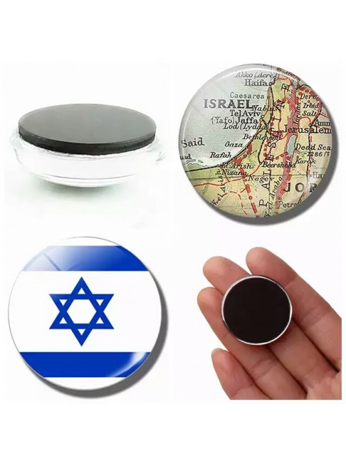 Магнит на холодильник флаг и карта Израиля