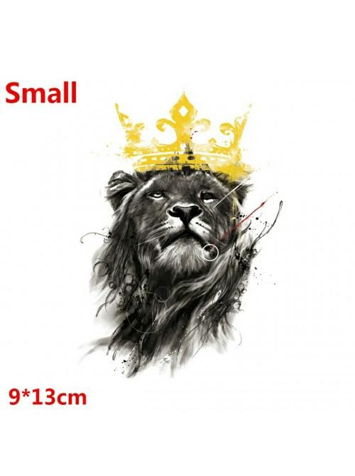 Наклейка с металлической тканью | Изображение льва | Футболка | Толстовка