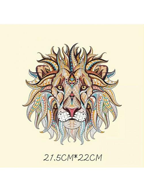 3D наклейка с термопереносом | Изображение льва | Футболка | Толстовки и джинсовая куртка