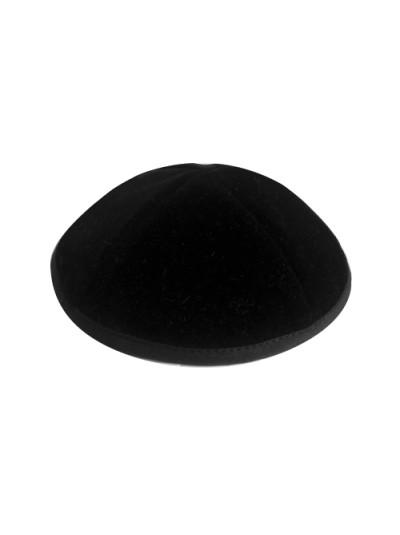 Кіпа чорна оксамитова (бархатная) | 16 см