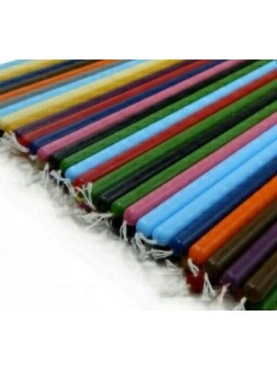 Свечи цветные восковые 20 см