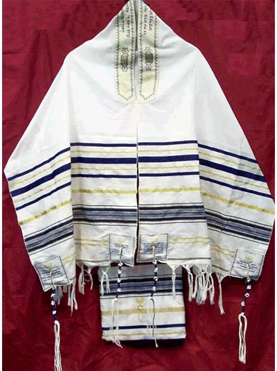 Мессианский талит | Еврейское молитвенное покрывало (180 х 86 см)