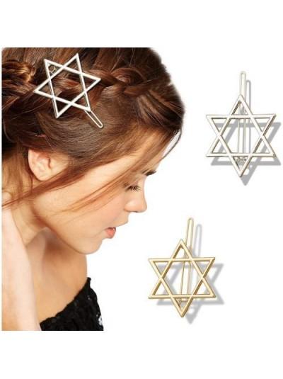 Заколка для волос | Еврейская звезда Давида | 45*45*45 мм